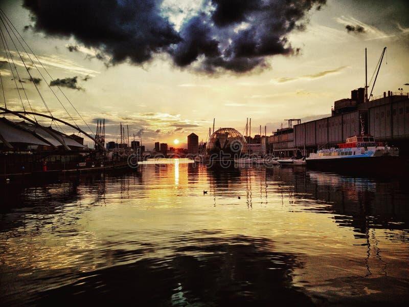 Marina de Gênes Porto Antico photographie stock