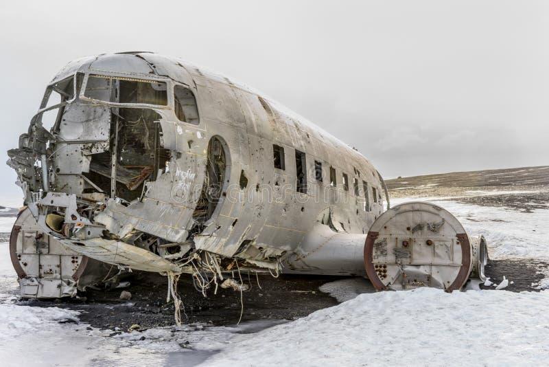 Marina de guerra estrellada DC-3 en Islandia foto de archivo libre de regalías