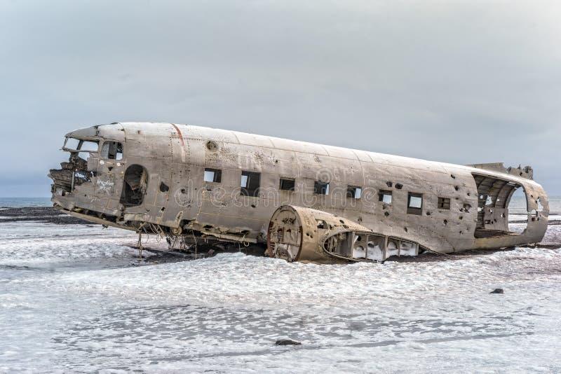 Marina de guerra estrellada DC-3 en Islandia fotografía de archivo libre de regalías