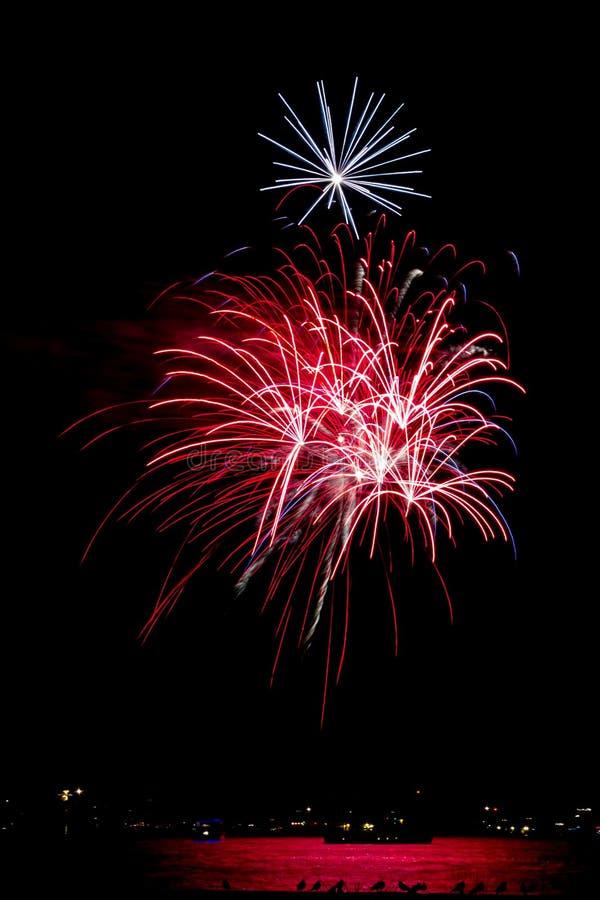 Marina de guerra Pier Fireworks de Chicago fotos de archivo libres de regalías