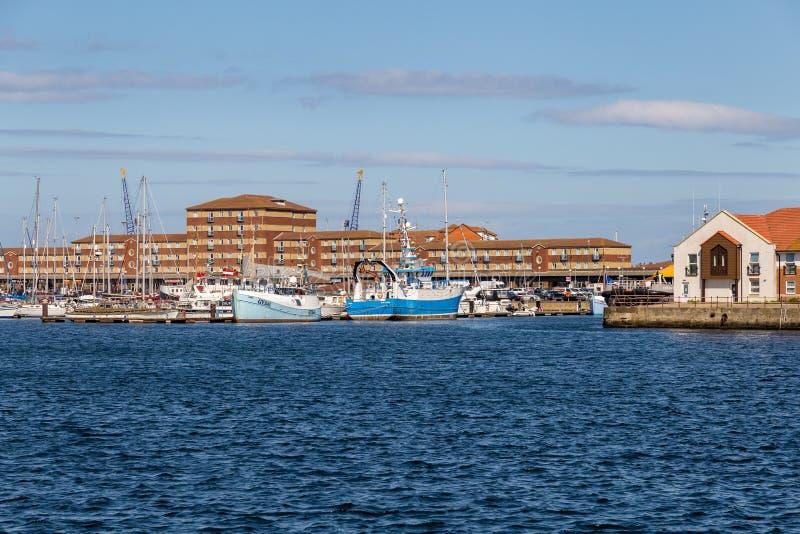 Marina de Hartlepool, R-U photo libre de droits