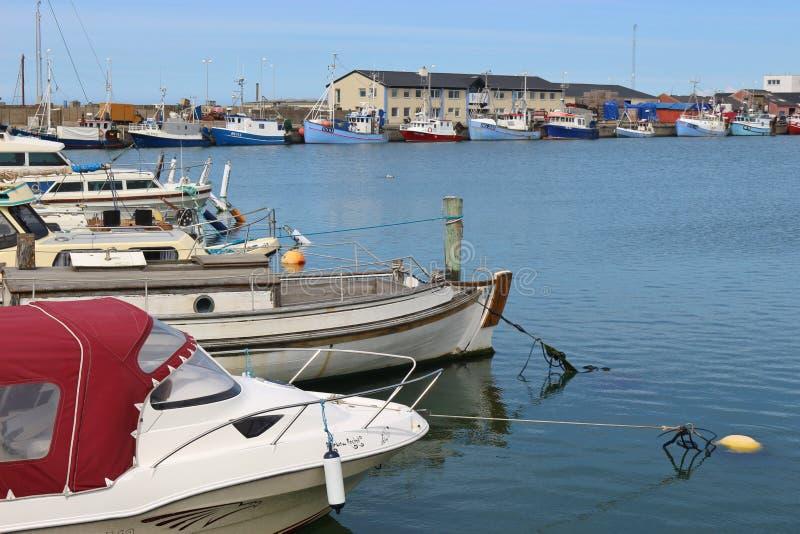 Marina de Hirtshals, Danemark, l'Europe photo stock