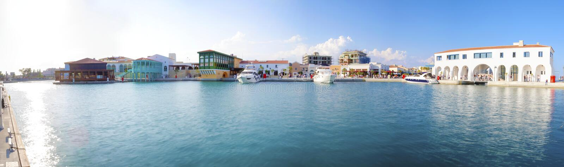 Marina de Limassol, Chypre images libres de droits