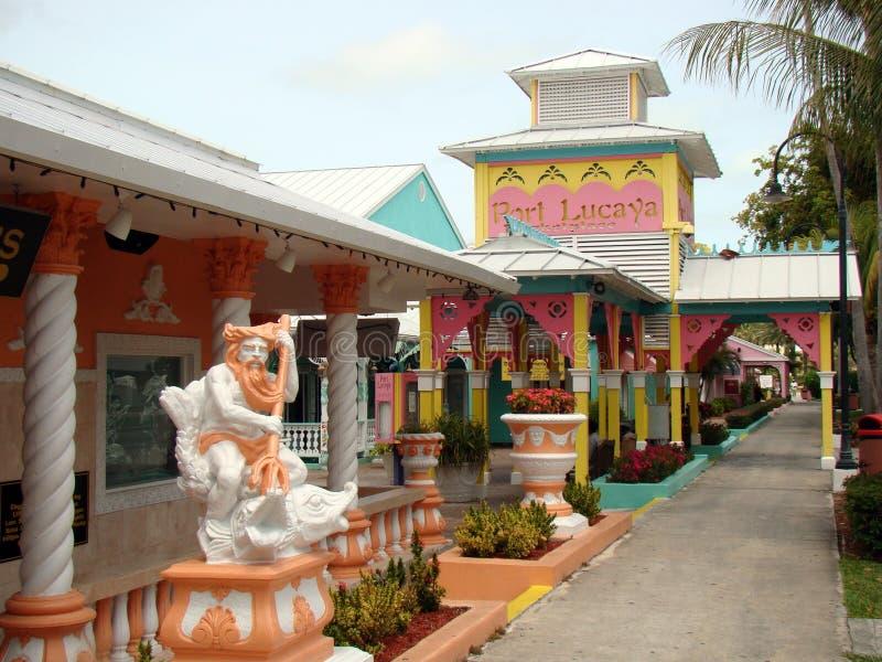Marina de Lucaya de port et marché, Bahamas photographie stock