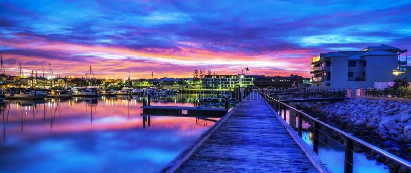 Marina de Mindari de lever de soleil, Perth, Australie image stock