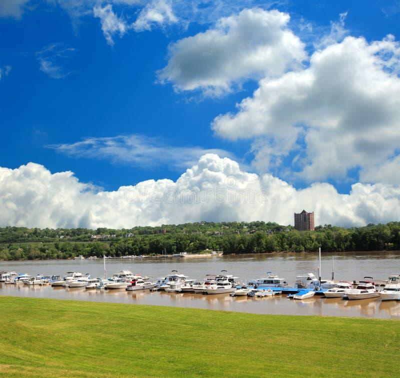 Marina de rivière Ohio photographie stock libre de droits