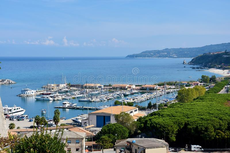 Marina de Tropea, Calabre, Italie du sud photo stock