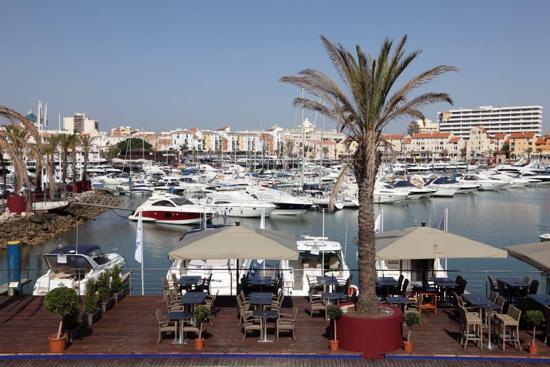 Marina de Vilamoura, Algarve Portugal stock photo
