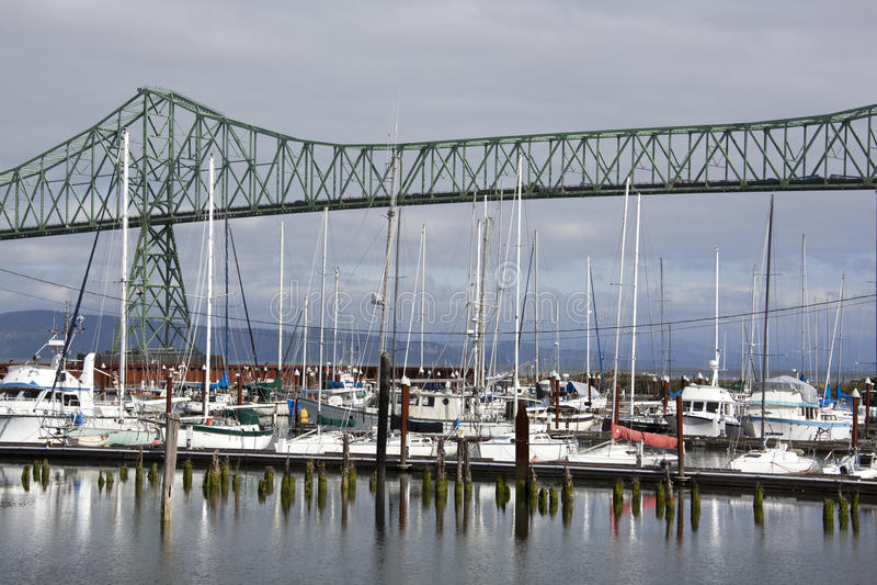 Marina de ville d'Astoria photo libre de droits