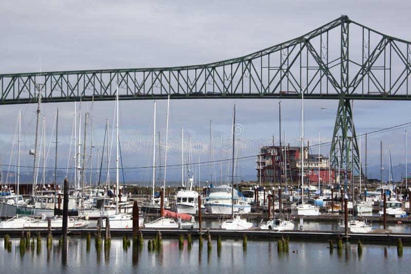 Marina de ville d'Astoria photographie stock