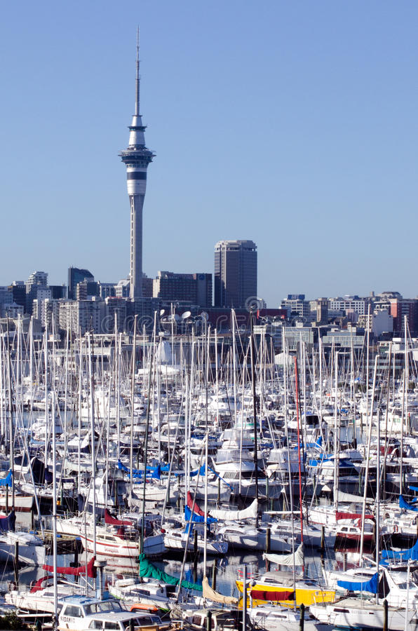 Marina de Westhaven - Auckland image stock