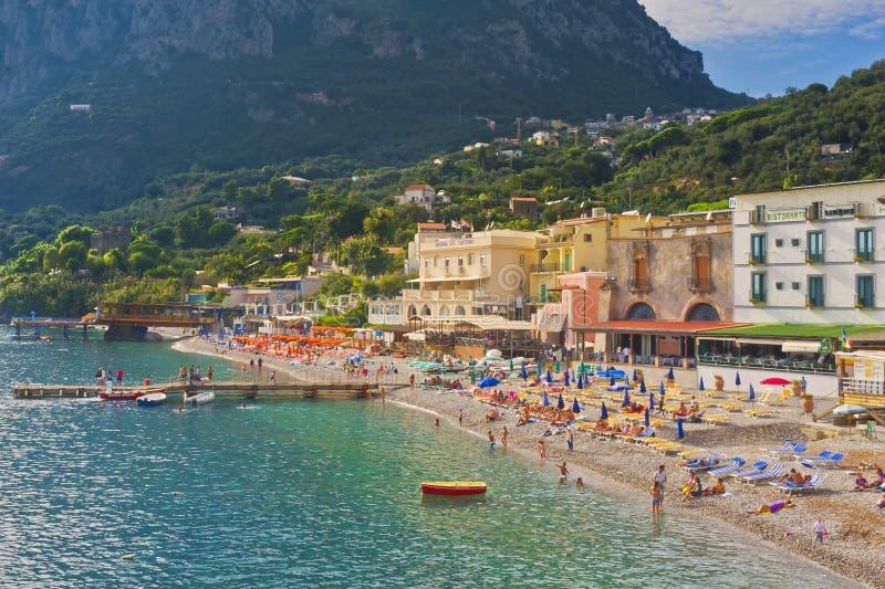 Marina del Cantone, de Kust van Sorrento, Italië stock afbeelding