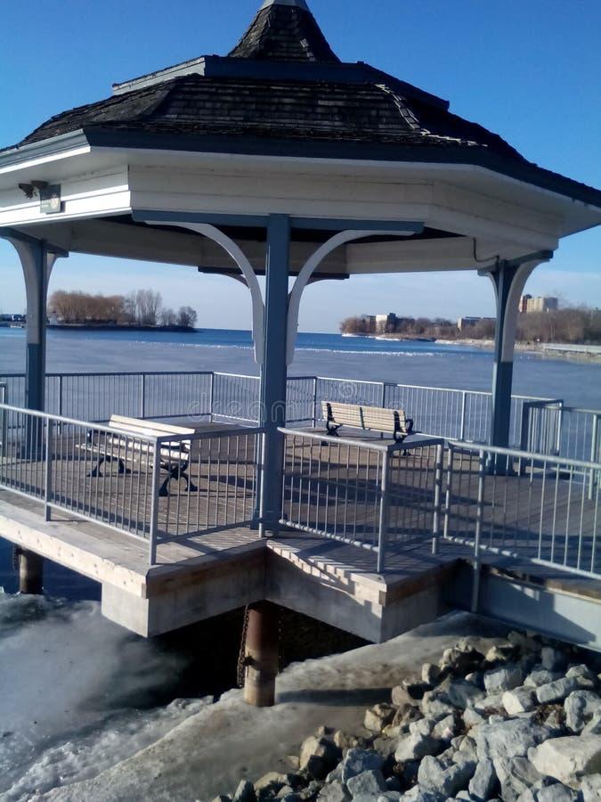 Marina Del Rey Lake View Kiosk foto de archivo libre de regalías