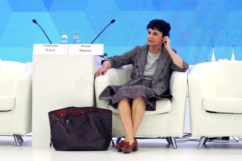 Marina Devovna Loshak, diretor do museu de belas artes nomeado ap?s Pushkin em Moscou imagem de stock