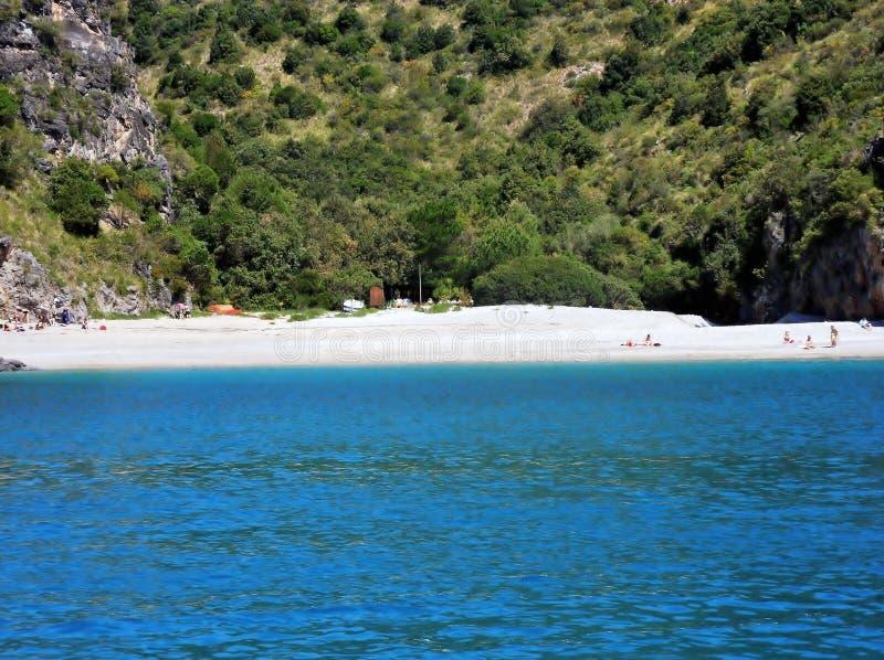 Marina Di Camerota, Pozzallo plaża - fotografia stock