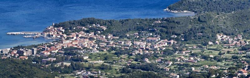 Marina di campo on elba island royalty free stock image