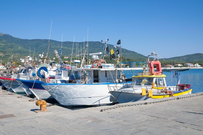 Marina di Campo,Elba Island,Italy stock photography
