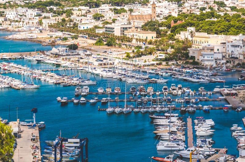 Marina docked boats Santa Maria Leuca Apulia Salento region Lecce italy royalty free stock photos