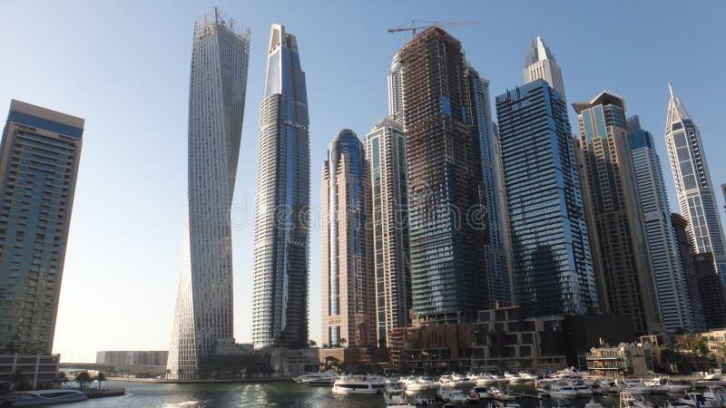 Marina Dubaj drapacza chmur budynek zdjęcie royalty free