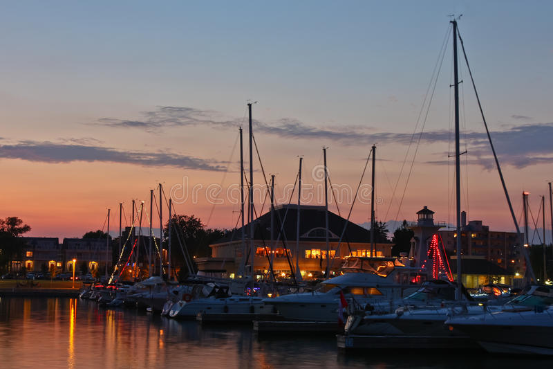 Download Marina at Dusk stock photo. Image of reflections, harbour - 20349430