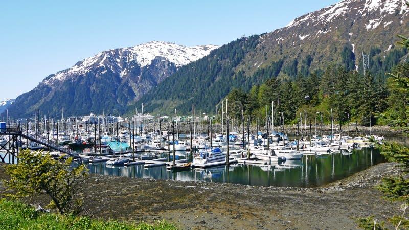 Marina en Alaska image stock