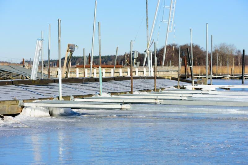 Marina en hiver photographie stock libre de droits