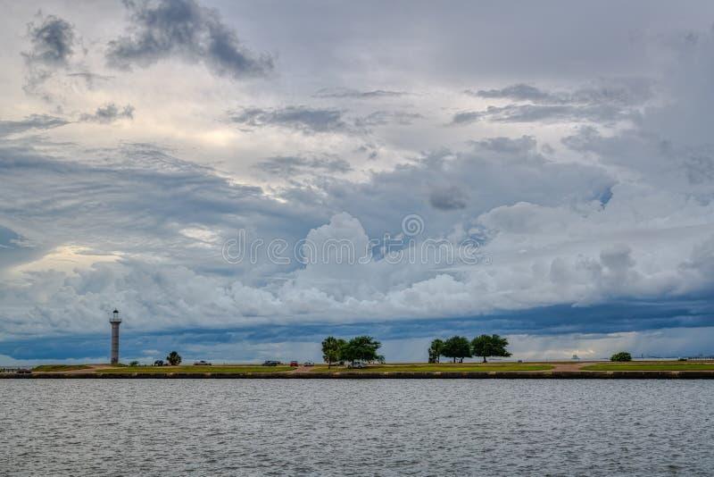 Marina et phare de Broadwater photos stock