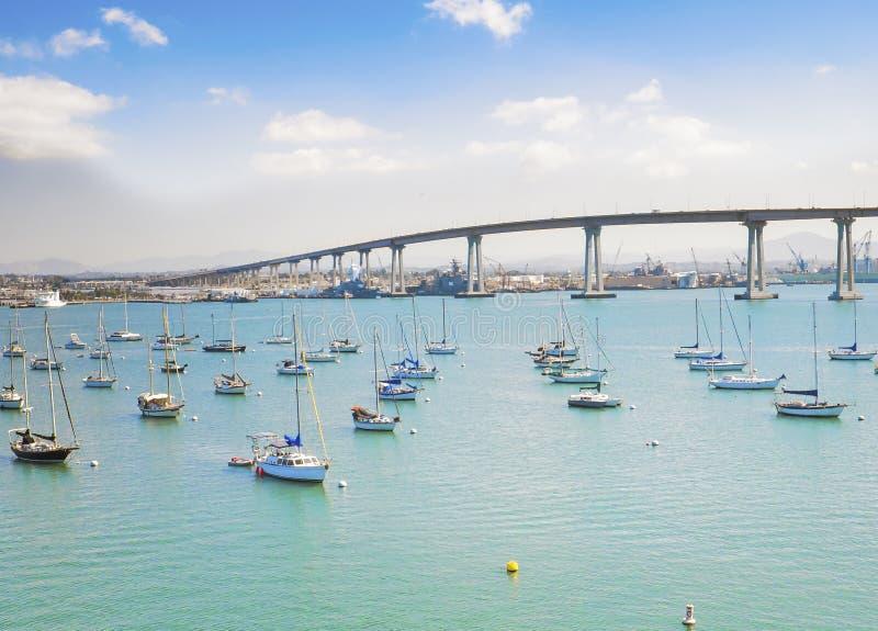 Marina et pont de Coronado, San Diego photo libre de droits