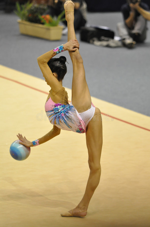 Marina Fernandez Spain performing at ball stock photography