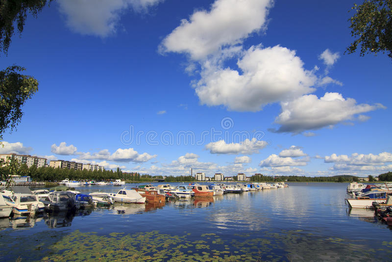 Download Marina in Finland stock photo. Image of sunny, blue, shoreline - 10990860