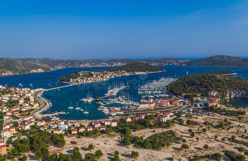 Marina Frapa aerial stock photo