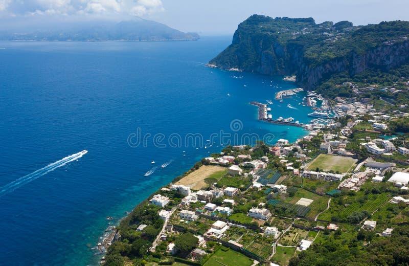 Marina Grande, isola di Capri, Italia immagine stock libera da diritti