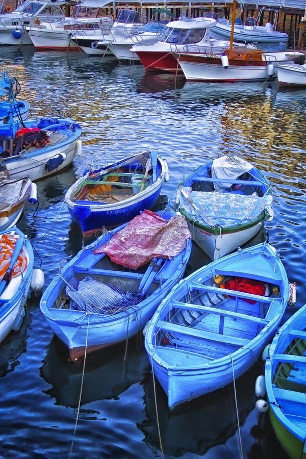 Marina Grande perto de Sorrento, Itália fotografia de stock