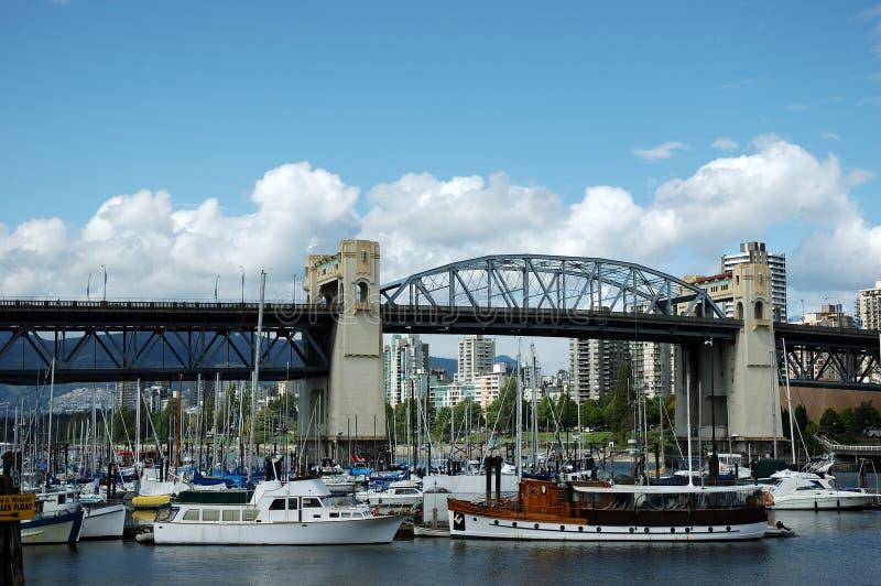 Marina, Granville Island, Vancouver, Canada stock photos