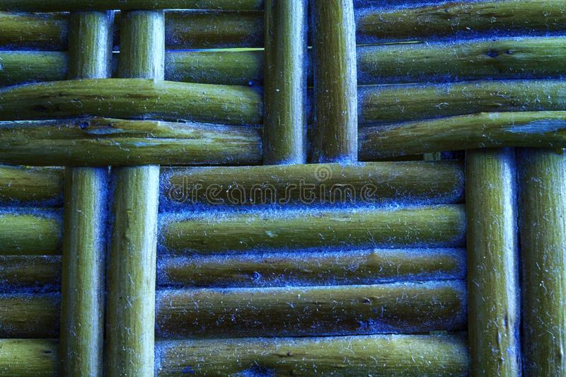 Marina grunge painted Wooden wicker texture of basketwork for background use.  stock photography