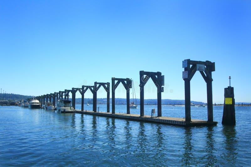 Marina Guest Moorage Dock foto de stock