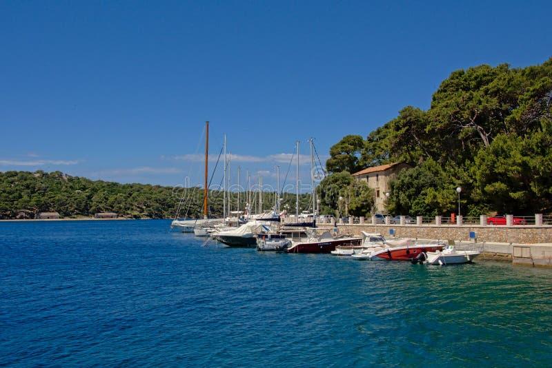 Marina harbor in Mali Losinj, Croatia royalty free stock photo