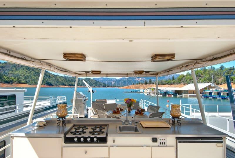 Marina And House Boat Royalty Free Stock Photography