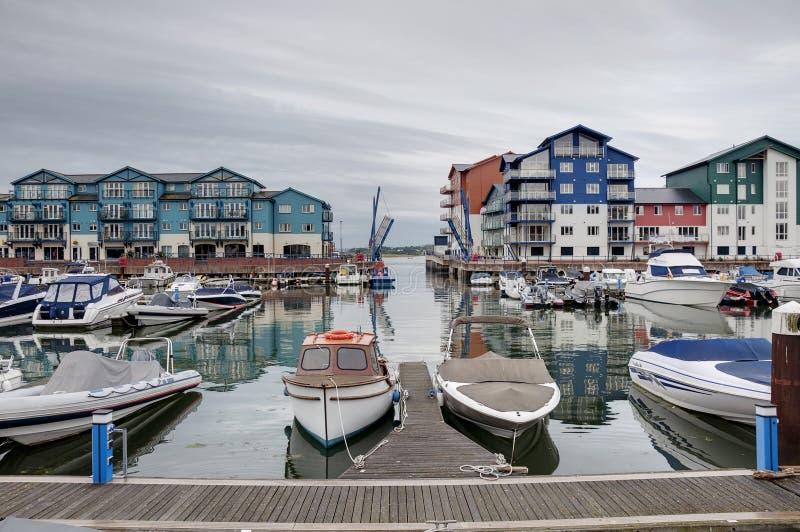 Marina houses and apartments royalty free stock image