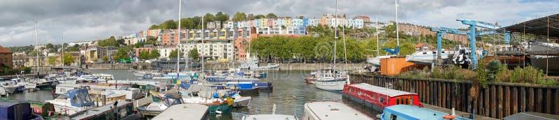 Marina i Bristol Docks, Bristol, Förenade kungariket arkivfoton