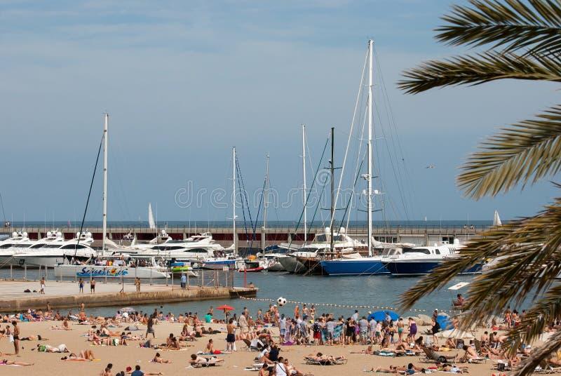 Marina i plaża w Barselona zdjęcie royalty free