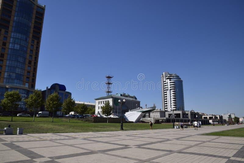marina i quay Novorossiysk Miastowy krajobraz biedne miasto obrazy royalty free