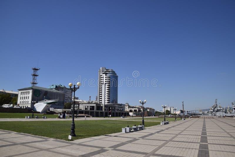 marina i quay Novorossiysk Miastowy krajobraz biedne miasto obraz royalty free