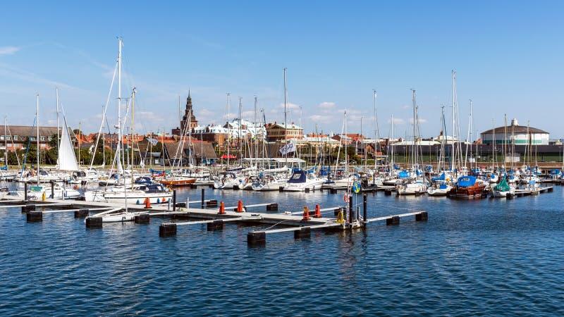 Marina i Ystad linia horyzontu fotografia royalty free