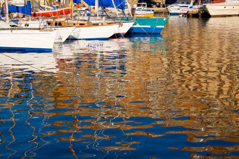 marina jachtów zdjęcie stock