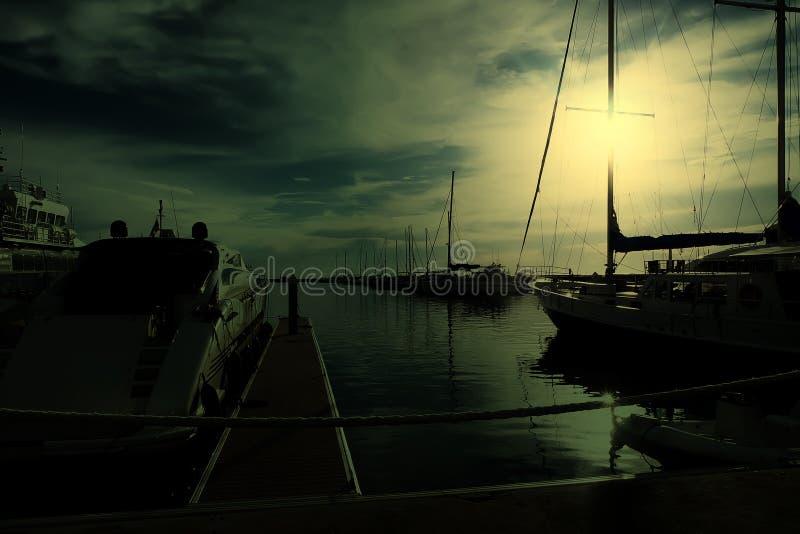 Marina jachty obrazy stock