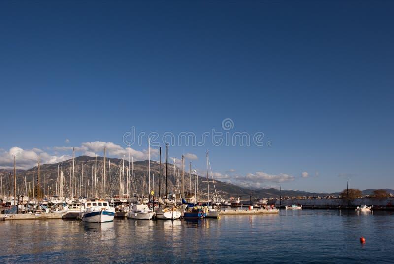 The marina in Kalamata royalty free stock photo