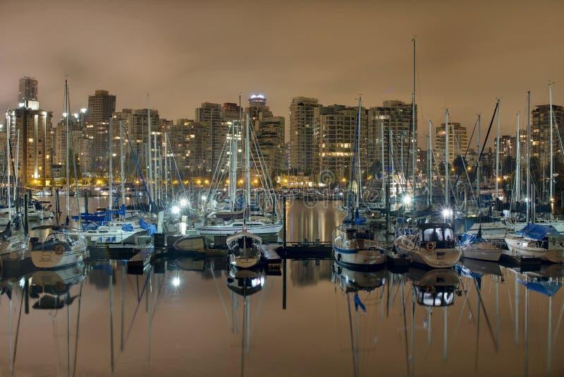 Marina le long de stationnement de Stanley à Vancouver BC photos libres de droits