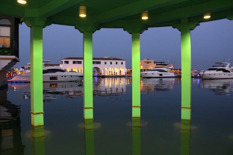 Marina in Limassol stock photo