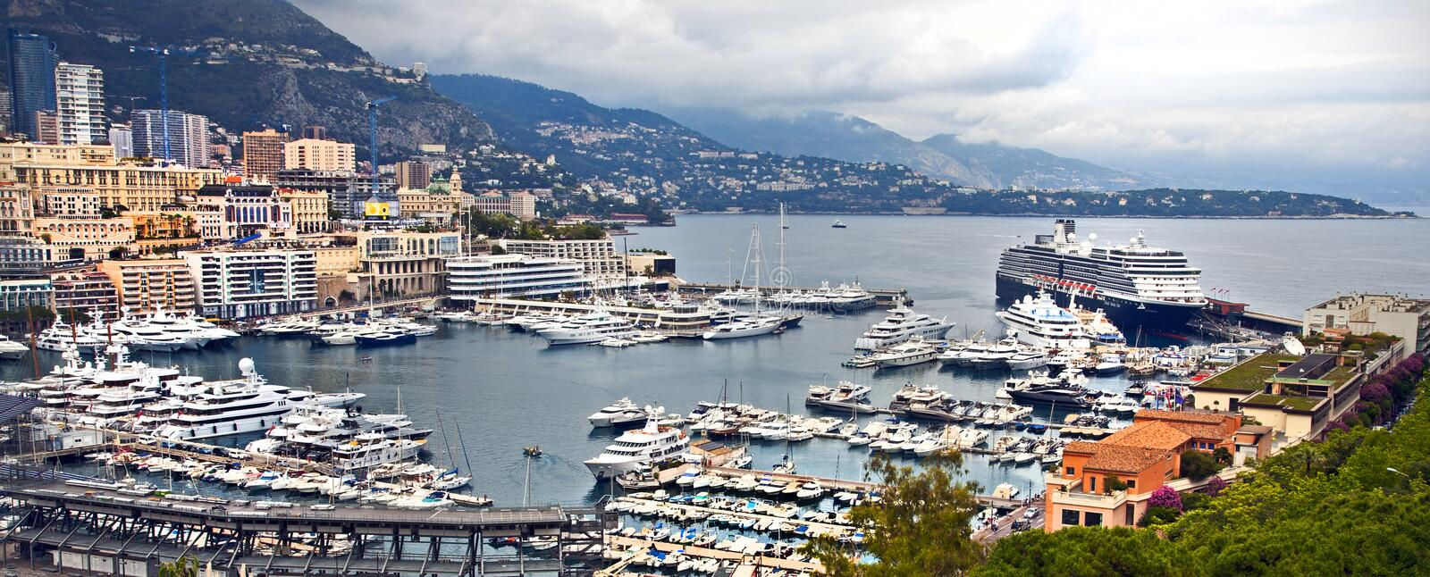 Marina and luxury at monte carlo royalty free stock photography